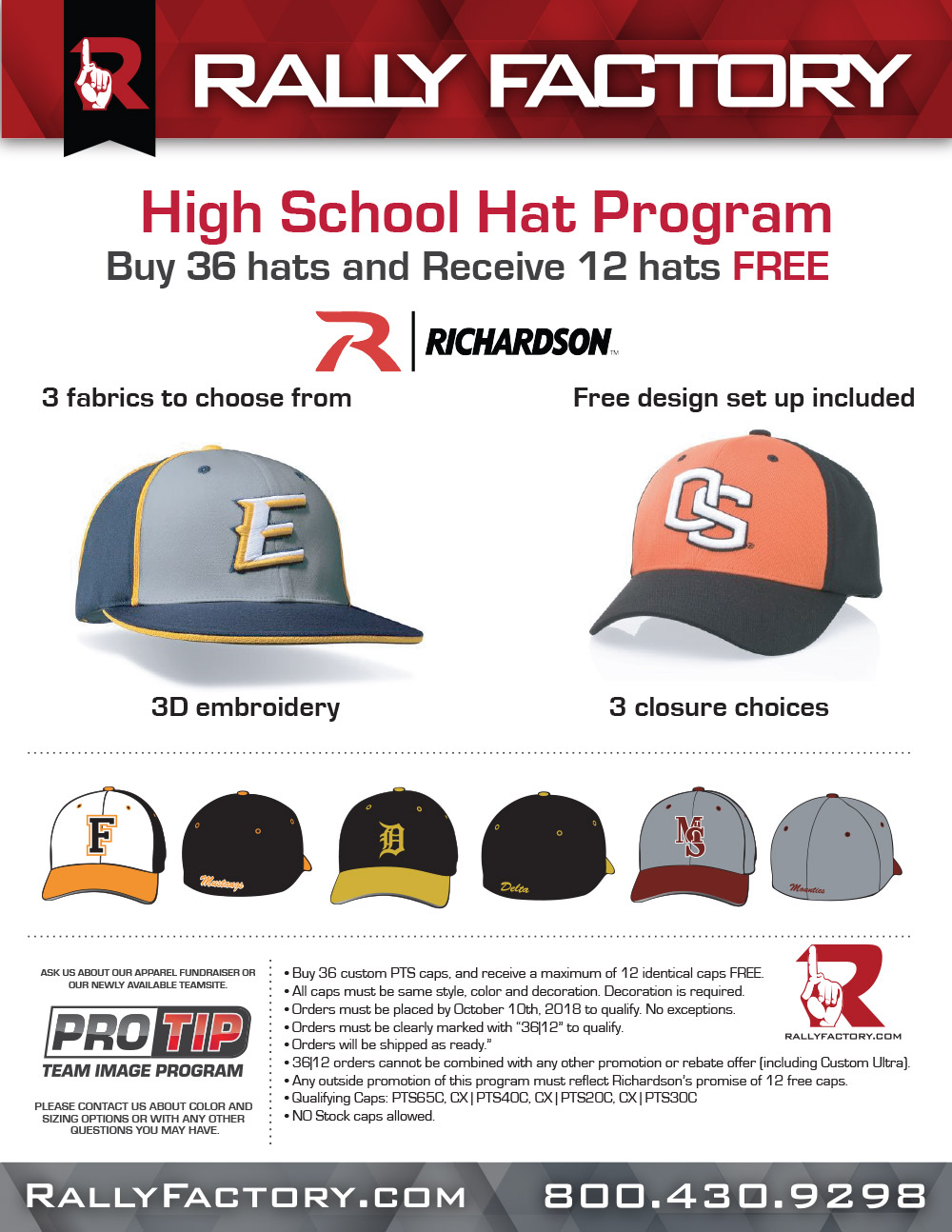 Contact Rally Factory for Richardson Hat Deals!!